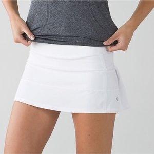 Lululemon Pace Rival White Skirt